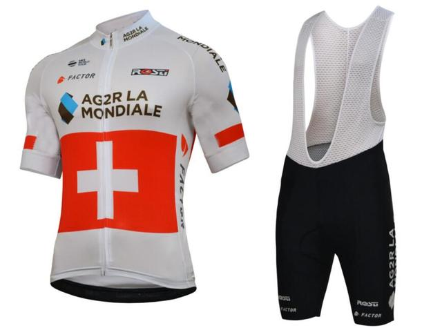 2018 Pro Switzerland Ag2r Cycling Jersey bib shorts Ropa Ciclismo Quick-Dry Sports  Clothing cycle be45b7a6e