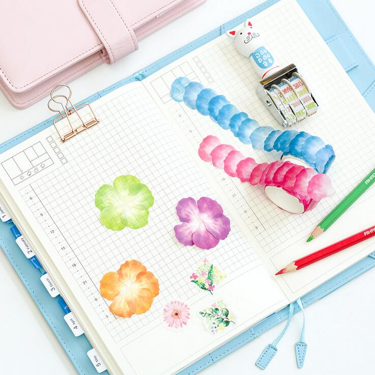 Creative Petal Secret Of The Garden Decorative Sticker Tape DIY Adhesive Stickers DIY Decoration Diary School Office Supply alive for all the things are nice stickers adhesive stickers diy decoration stickers