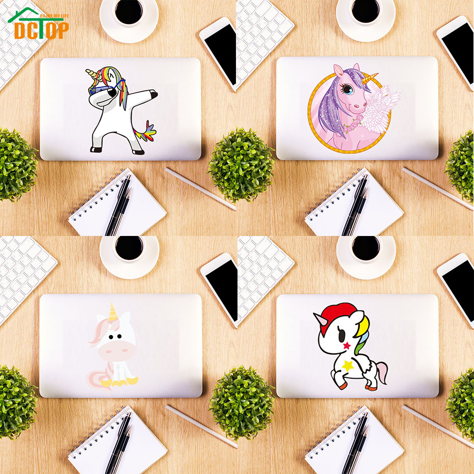 Lucu Kartun Unicorn Kuda Dinding Laptop Switch Stiker Vinyl
