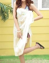 купить Ayliss 100*145cm Women Beach Sarongs Beach Cover Up Summer Chiffon Scarves Solid Fashion Design Plus Size Towel недорого
