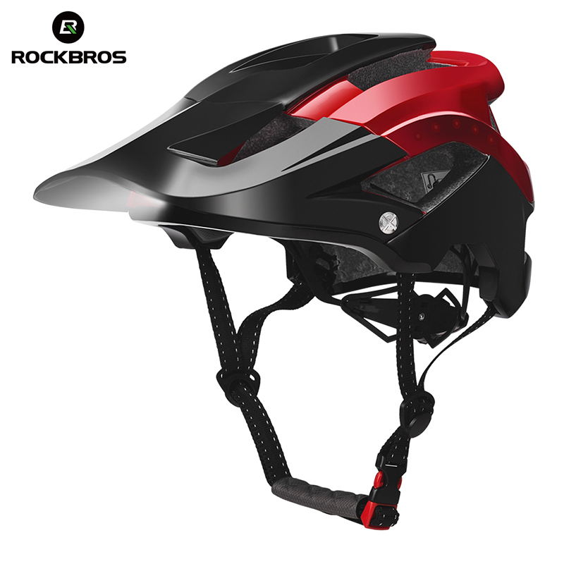 Cycling Helmet With Light Bicycle Helmet MTB Road Bike Safety Hat Integrally molded Ultralight Helmet Safe