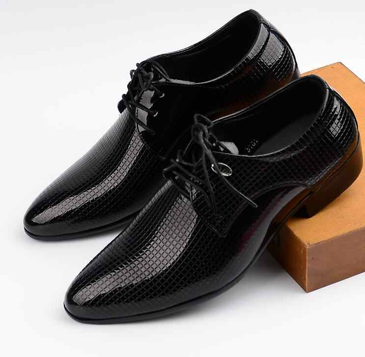 24aa5535a47 ... JOZIGBEMA New Classic Men Dress Shoes Style Man Leather Wedding Shoes  Social Sapato Male Oxfords Flat ...