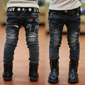 Hot 2017 Boys Jeans New Spring Cool Kids Trousers America Flag Children Denim Pants With Belt High Quality Boys Clothing