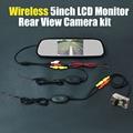 Wireless 5inch Mirror LCD DVD Monitor Rear View Backup Reverse Original License Plate Camera For Citroen C3 Picasso / C4 Picasso