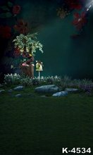 Photography Background 150x200cm Outdoor Dim moonlight Green Lawn Scenery Photo Studio Muslin Fabric Backdrops For Baby Fondos
