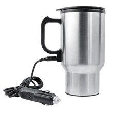 Dewtreetali araba Styling DC 12V araba 450ml içecek kahve su süt paslanmaz çelik şişe isıtıcı isıtıcı araba iç aksesuarları
