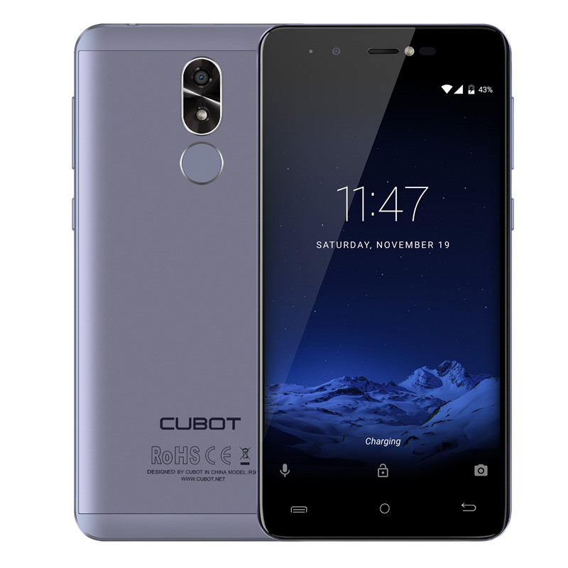 Original Cubot R9 Quad Core MT6580 Android 7 0 Fingerprint 2GB RAM 16GB ROM  Smartphone 5 0 Inch 1280x720 HD Screen 13 0MP Camera Celular