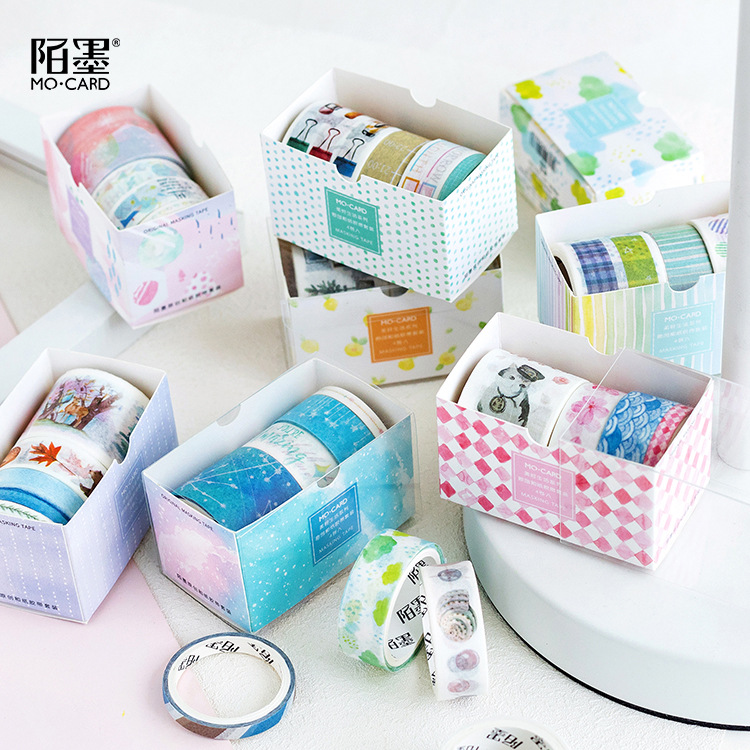 4 Rolls/pack Dream Colorful Washi Tape Set Paper Masking Tapes Japanese Washi Tape DIY Scrapbooking Sticker
