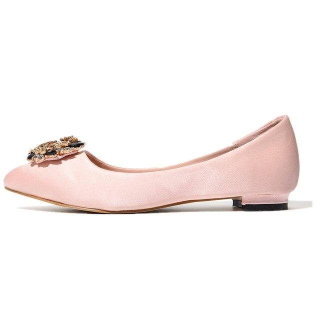 Tienda Online Yjp mujeres rhinestone flores Tacones bajos Zapatos ...