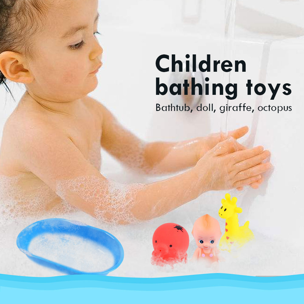 Children Shower Toys Lovely Baby Bath Toy Playing Bathtub 1 Set Early Educational Kids Girls Water Spray Animal