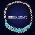 Trigo de alta calidad de moda de lujo collar de la declaración choker collares de ópalo de cristal de swarovski joyería de las mujeres al por mayor