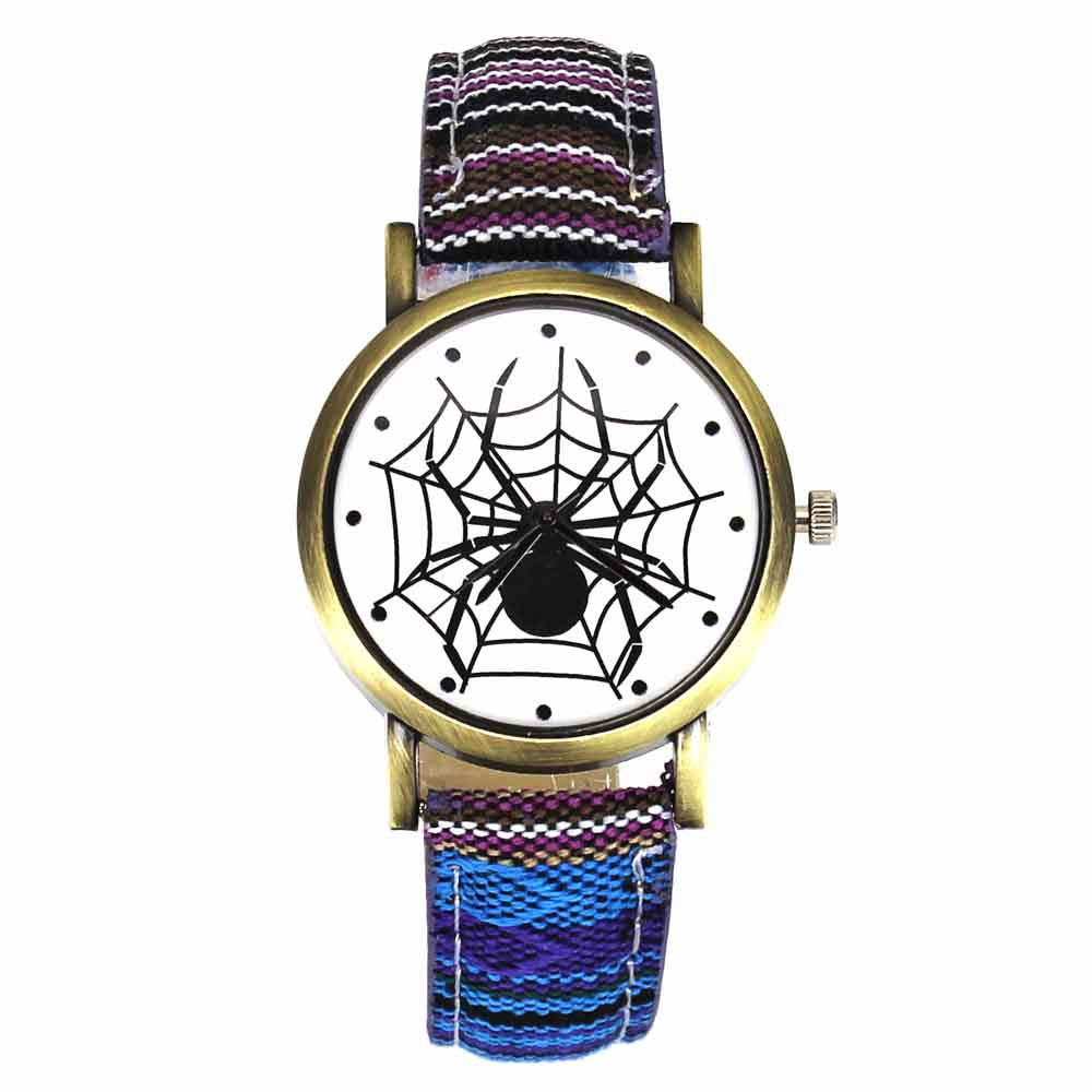 Pelottava musta hämähäkki web hyönteisten suunnittelu kellot - Miesten kellot - Valokuva 3