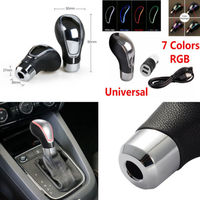 Car Styling Touch Car Gear Shift Knob Activated Sensor 7 Colors RGB LED Light Dual USB Charge Car Gear Shift Knob Kit