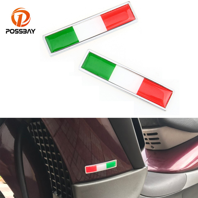 POSSBAY 2pcs Italy Car Sticker Italy Falg Aufkleber Naklejki Stickers Car SUV Van Body Auto Door Motorcycle Stickers Decoration