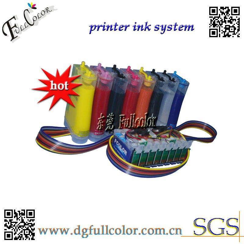 Заправка для печати фотографий СНПЧ для Epson R2000 Система непрерывной подачи чернил с пигментными чернилами и чипом ARC