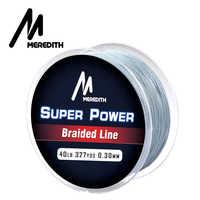 MEREDITH Brand 4 Strand Braided 100M 300M 500M 1000M 10-40LB Braided Fishing Line PE Multilament Braid Lines Lake River Fishing