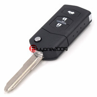 New Folding Remote Key Car Starter 3 Button 433MHz With 4D63 Chip For Mazda