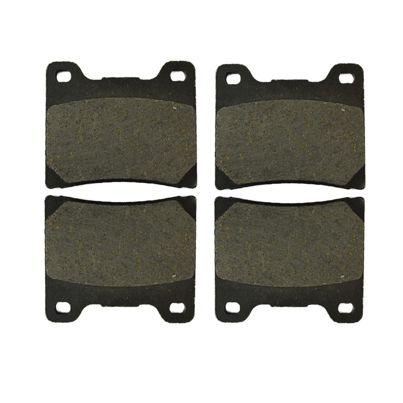 2 Pairs Motorcycle Brake Pads for YAMAHA FZR 600 W FZR600W 1989 Black Brake Disc Pad 2 pairs motorcycle brake pads for honda cbr250 cbr 250 rj rk rk2 mc19 1988 1989 black brake disc pad