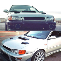 Hot Hood Vent FRP Induction Scoop Air Flow Intake Hood Scoops for Subaru 99 01 GC8 GF8 STi WRX 2.5RS JLD