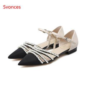 f53995fa7911c9 Svonces Flat Summer Black White Casual Shoes Women