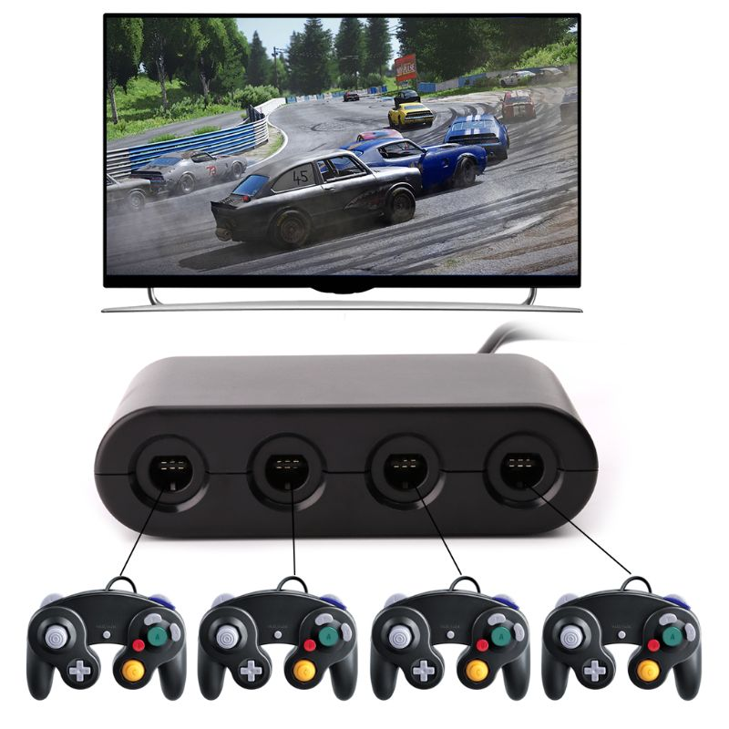 3 in 1 <font><b>GC</b></font> for Wii U PC Switch Gamecube Controller Adapter Converter PC USB for Nintendo image