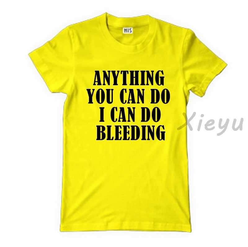 Feminis Musim Panas Apa Yang Dapat Anda Lakukan Aku Bisa Melakukan Pendarahan T Shirt Feminis Feminisme TOP Girl Power Tee