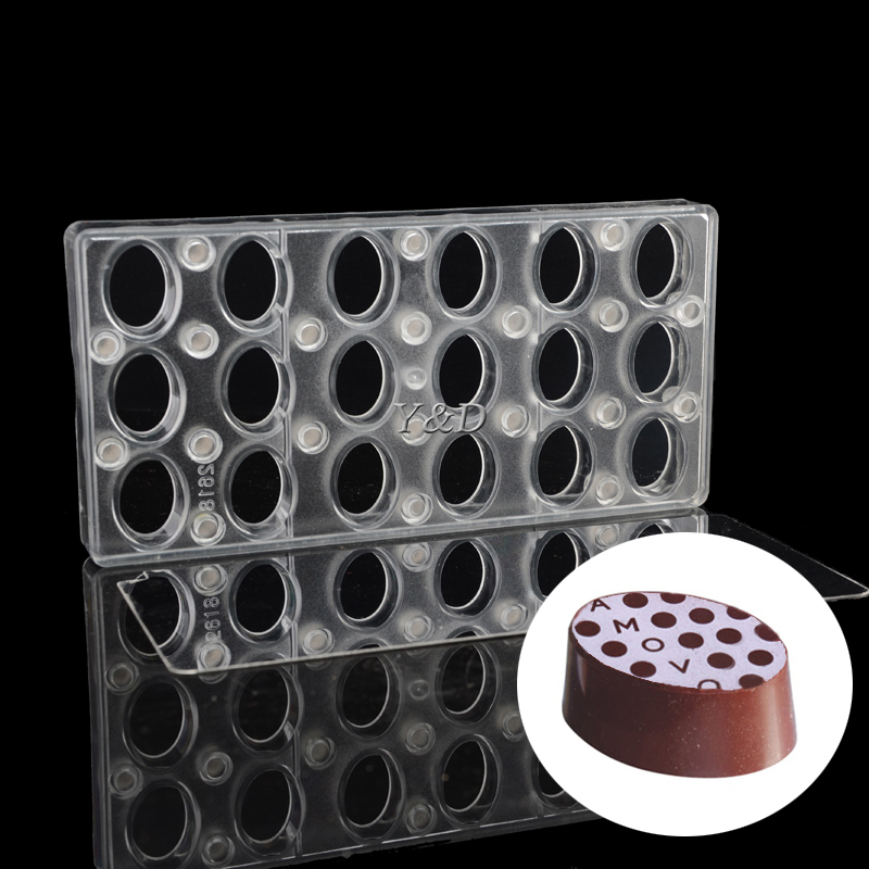 Hard Plastic Oval egg shaped Magnetic Magnet Sheet Polycarbonate PC Chocolate Mold With Steel Plate Mirror