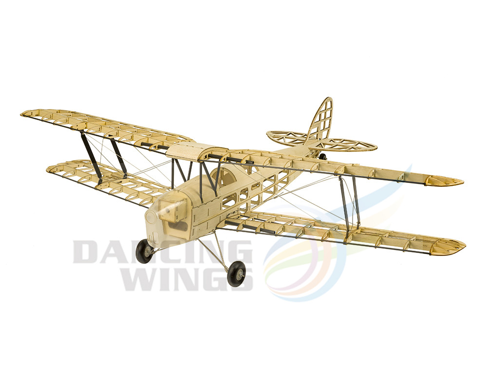 Upgrade Mini Tiger Moth Balsa Wood Model Aircraft Electric Powered RC Airplane 980mm Wingspan Laser Cut Plane Model Kits image