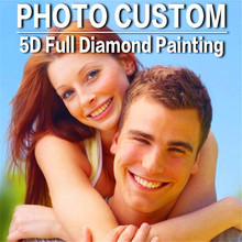 Diy Diamante Pinturas Foto Personalizada, Custom Diamond Bordado Familia Retratos Memento Diamond Cross Stitch wedding Home Decor