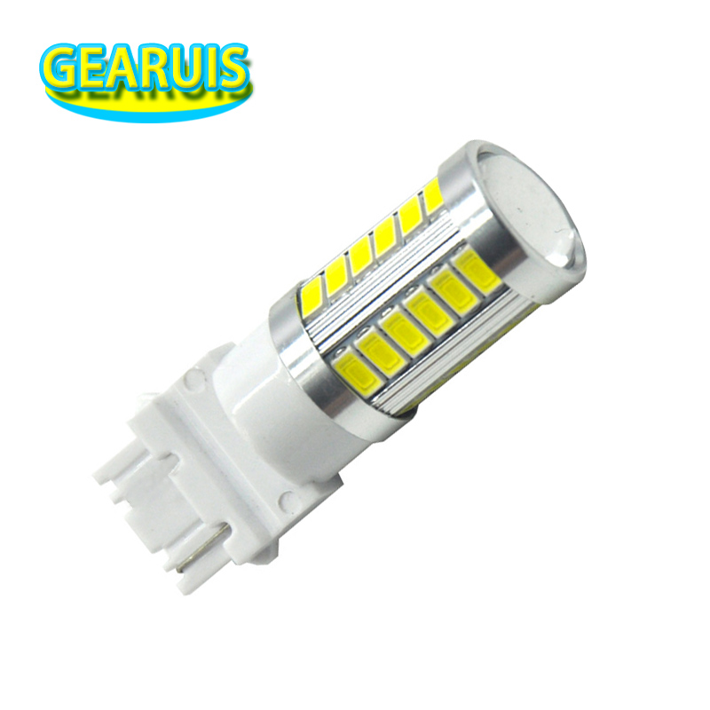 High power T25 3156 3157 strobe flash 33 SMD 5630 5730 LED blink flashing bulb White