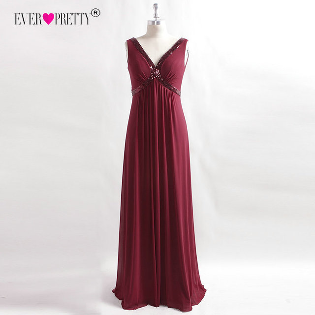 3e773b3513fd Women Elegant Formal Dress Ever Pretty 7533 A-Line Long Burgundy Sequin  Holiday Evening Party Dresses Sleeveless Evening Gown
