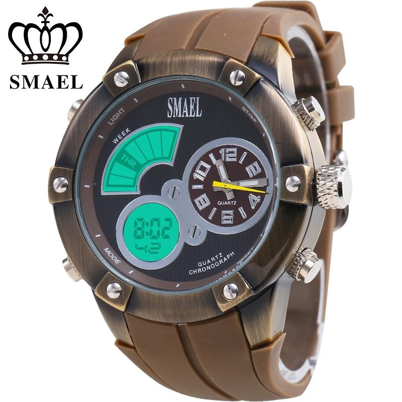 SMAEL Fashion Sport Metal Case Watches Men Watch LED Digital Clock Luxus Quarzuhren Relogio Masculino Montre Erkek Saat 1042 al ko 113138 42 см