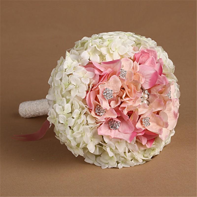 New Artificial Wedding Bouquets Crystal Bridal Bouquet Wedding Bouquet Wedding Flowers Bridal Bouquets Hydrangea Flower Bouquet (2)
