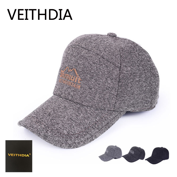 VEITHDIA Autumn and winter Thickened Baseball Cap With Ears Men'S Cotton Hat Snapback Hats Ear Flaps For Men Hat 489 new high quality warm winter baseball cap men brand snapback black solid bone baseball mens winter hats ear flaps free sipping
