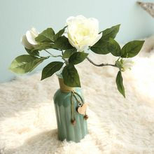 Christmas  Artificial Flower Single Camellia for Wedding Flowers DIY Home Party Decorations