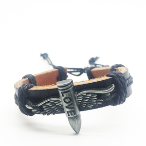 Image 5 - Wholesale Lots Bulk 50pcs genuine Cuff leather Bracelet Men Women unisex mosaic Copper alloy Mix Styles Fashion Handmade Jewelry