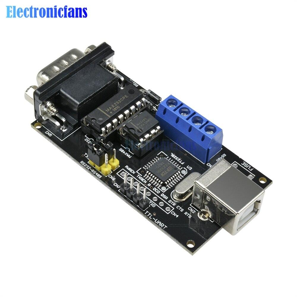 Adaptador convertidor USB estándar a serie RS232 UART TTL RS485 módulo controlador FTDI FT232BM/BL para soporte de Arduino Win7/XP/OS