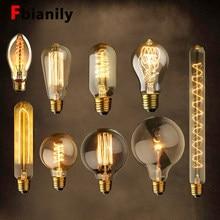 Vintage edison bulbo e27 220 v lâmpada retro 40 w ampola lampada vintage st64 lâmpada antiga incandescente casa filamento novo