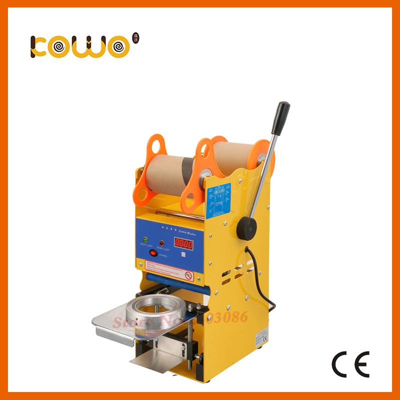 ce RoHS plastic manual cup sealing machine electric 300-500 cups/hour cup sealer bubble tea sealing machine food processor dmwd manual handle cups sealing machine hand electric drink sealer pressure lid sealing maker bubble milk tea shop closure cup