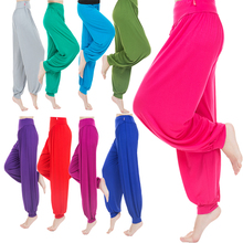 Women Yoga Pants Plus Size Loose for Dance TaiChi Wide Leg Leggings Colorful Bloomers Modal WomenTrousers