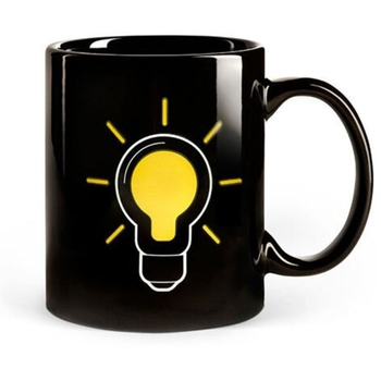 Lightbulb Heat Change Mug Heat Cup Sensitive Porcelain Tea Coffee Mug Magic Coffee Heat Sensitive Mug,Ceramic  Design dispensador de cereal peru