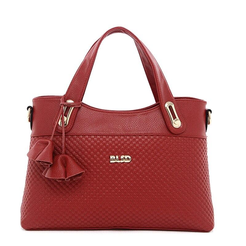 ФОТО Top Quality Women Handbags 2017 Fashion High Quality PU Leather Famous OL Elegant Messenger Crossbody Handbags Bur gundy ST9225