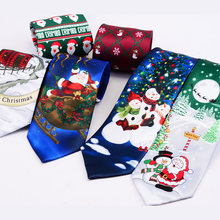 RBOCOTT Christmas Ties Red Good Quality Printed Necktie 9cm Novelty Santa Claus Green Tree Festive Tie For Men Christmas Gift(China)