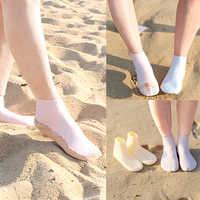 Chaussettes de plongée confortables antidérapantes bas de plage de sable nageoires de natation hommes et femmes pieds nus chaussures pieds nus pas d'eau lame