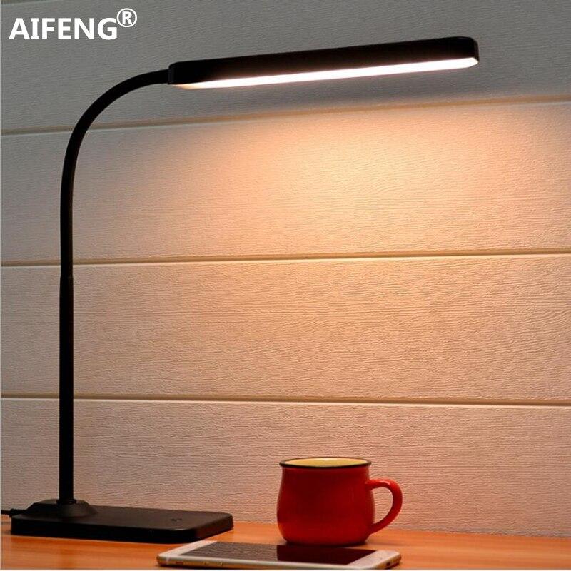 Aifeng Auge Usb Powered Led Licht Für Tisch Stufenlose Dimmen Flexible Metall Schwanenhals Schreibtischlampe Tischlampe Für Studie Schreibtischlampen Lampen & Schirme
