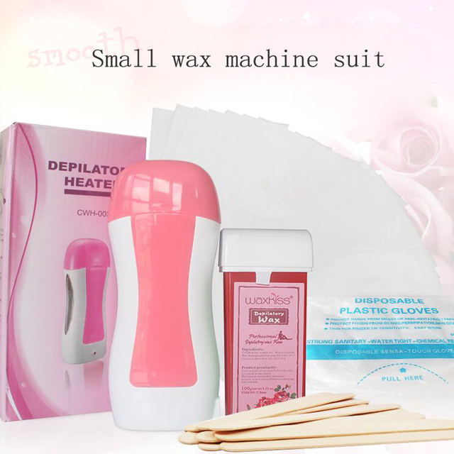 Hot High Quality Hair Removal Machine Wax Heater Cartridge Epilator  Roll-On Depilatory Heater Waxing Paper Wax Hair Removal Set