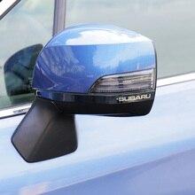 Автомобильные Зеркала анти-руб Нержавеющей стали Titanium черный декоративная накладка отделки 2 шт. для Subaru Forester Outback XV Наследие 13-16