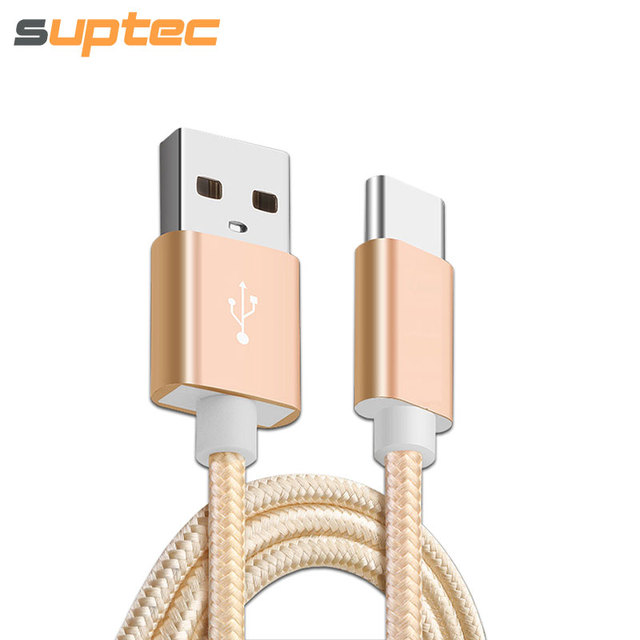 SUPTEC USB Type C Type-C Cable 3.1 Fast Charging Data Sync Braided USB C Cable for Samsung S8 Xiaomi Mi5 Mi4C Huawei P10 USB-C