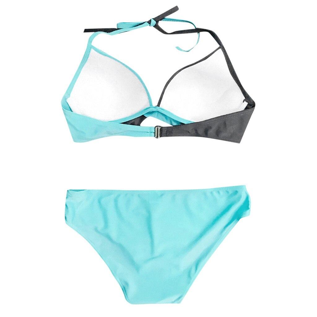 HTB18lZTXfvi21VjSZK9q6yAEpXan 7 Colors Womens Padded Push-up Bra Tankini Bikini Set 2019 Swimsuit Low Waist Bathing Suit Swimwear Two Pieces Halter Beachwear