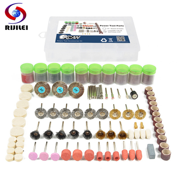 RIJILEI 350PCS BIT SET SUIT MINI DRILL ROTARY TOOL FIT DREMEL Grinding,Carving,Polishing tool sets,grinder head,Sanding wheel rijilei 136pcs dremel rotary tool accessory attachment set kits grinding sanding polishing sander abrasive for grinder